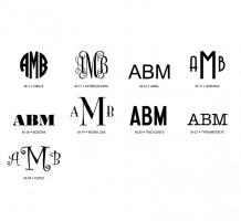 Standard Monogram Styles