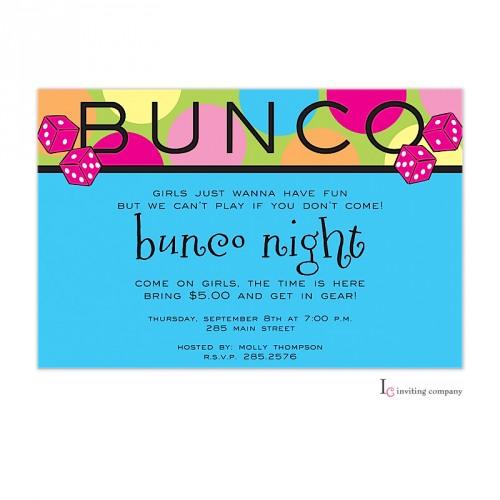 Bunco Invitation
