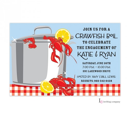 picture relating to Crawfish Boil Invitations Free Printable titled Crawfish Gleam Invitation