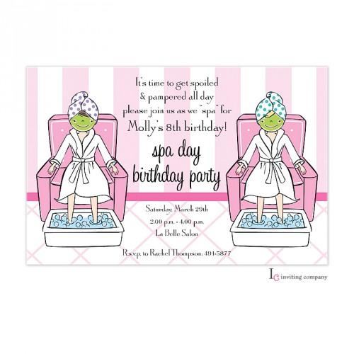 Little Spa Invitation