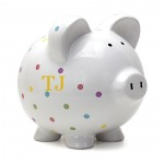 Large Pink Dot Piggy Bank