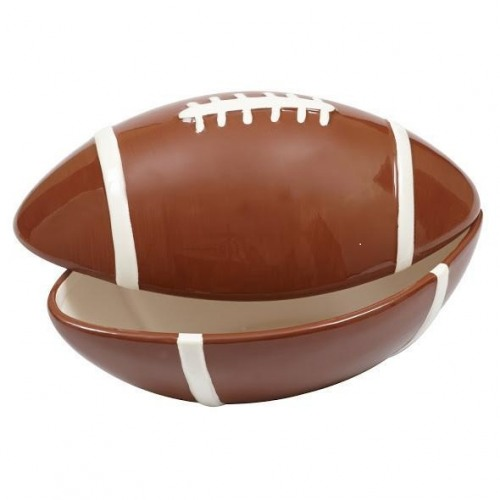 52 Splendid Home Bar Ideas To Match Your Entertaining: Ceramic Football Bowl With Lid