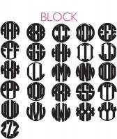 Circle Block Monogram