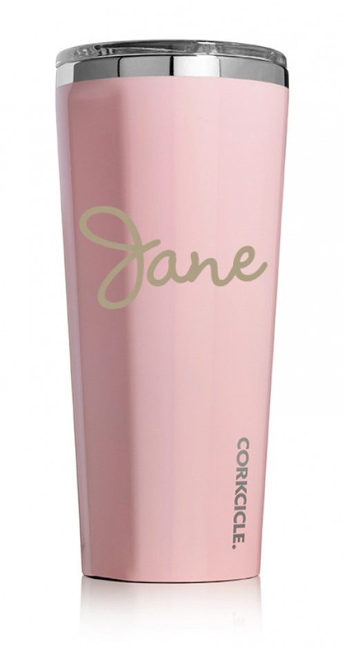 The Corkcicle Vinnebago Is A Wine Canteen That Can: Corkcicle Gloss Rose Quartz 24oz Tumbler