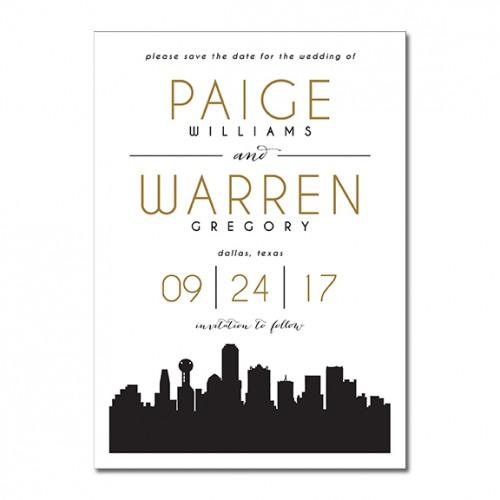 Dallas Skyline Silhouette Invitation