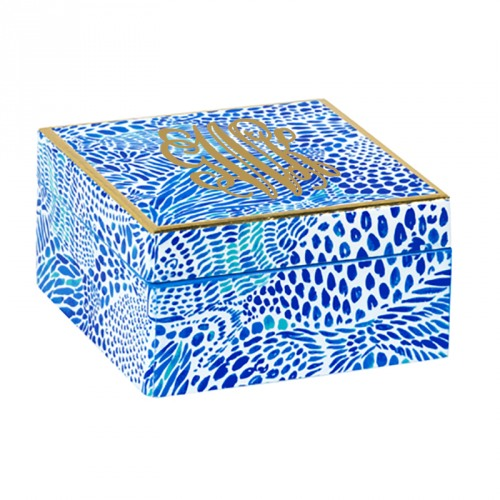 4bb7fd47adaafb Lilly Pulitzer Blue Tang Gang Small Lacquer Box