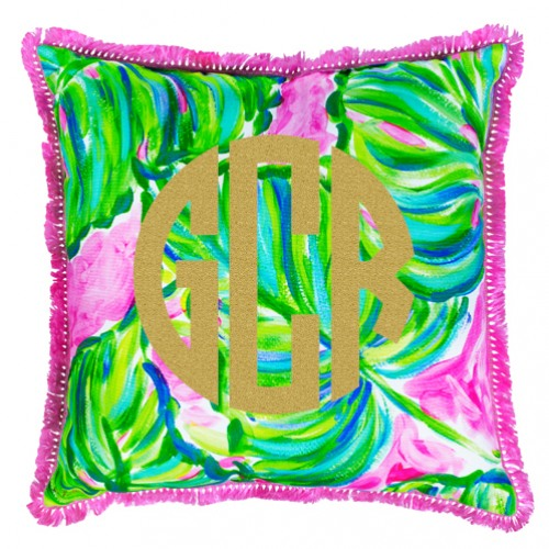 2e9dfe2351581e Lilly Pulitzer Painted Palm Large Pillow