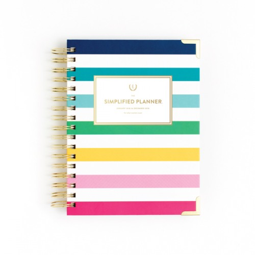 image about Simplified Planner Emily Ley identified as Emily Ley 2018 Each day Delighted Stripe Simplified Planner