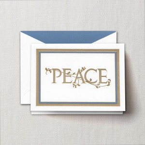 Holiday greeting cards engraved peace branches greeting card m4hsunfo