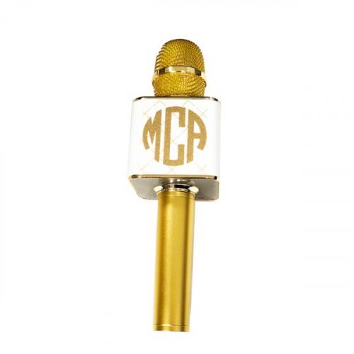 Gold 3-in-1 Wireless Handheld Karaoke Microphone ce98fd8cf5e80