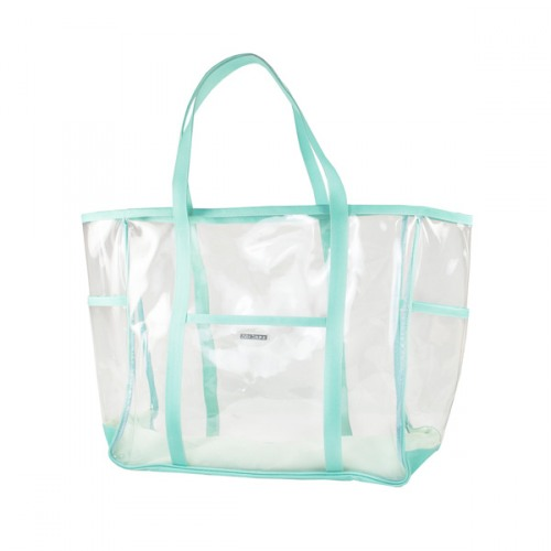 Turquoise Clear Beach Tote