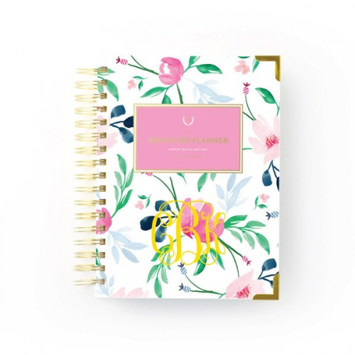 image relating to Simplified Planner called Emily Ley 2018-2019 Educational Day by day Watercolor Floral Simplified Planner