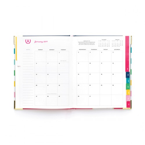 photo relating to Emily Ley Planners known as Emily Ley 2019 Instructional Weekly Blue Tile Simplified Planner
