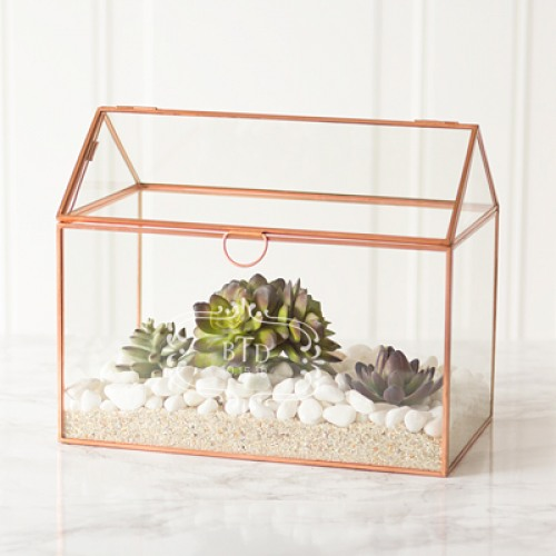 Personalized Glass Terrarium Card Box