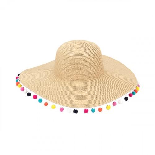 8eeb4d8ef78db Multicolor Pom-Pom Floppy Hat