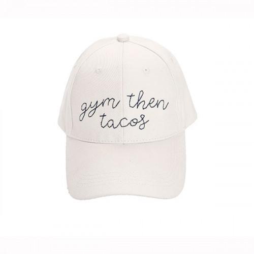 6f41411b7 Gym Then Tacos Baseball Hat