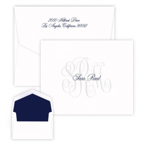 Rosedale Monogram Folded Note Cards