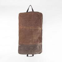 Khaki Waxed Canvas Garment Bag