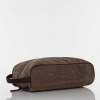 Olive Waxed Canvas Shoe Bag